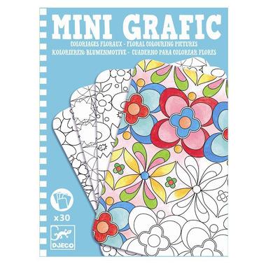 Djeco, Mini grafika kolorowanie kwiatów
