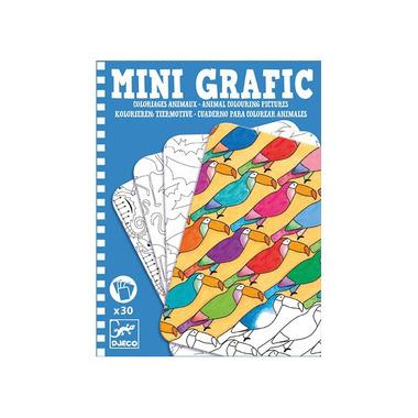 Djeco, Mini grafika kolorowanie zwierząt