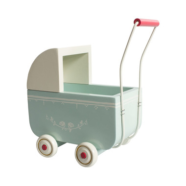 Maileg, duży wózek dla króliczka mietowy