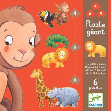 Djeco, puzzle Marmoset i przyjaciele