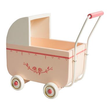 Maileg, duży wózek dla króliczka różowy