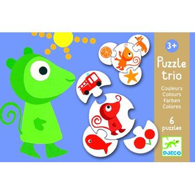 Djeco, puzzle Trio Kolory