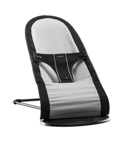 Leżaczek BALANCE - czarny/srebrny