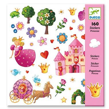 Djeco, zestaw naklejek Księżniczka 160 części