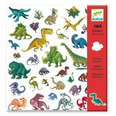 Djeco, naklejki dinozaury