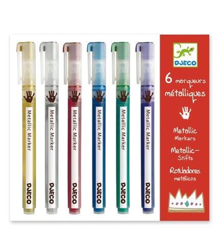 Zestaw markerów metalicznych 6 kolorów