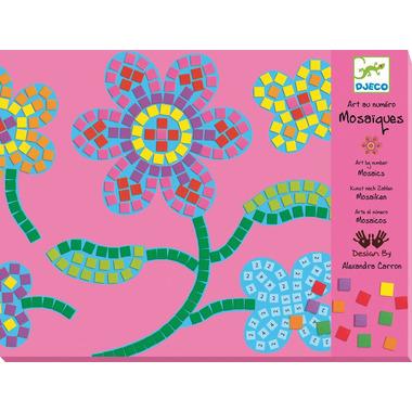 Djeco, zestaw mozaik Kwiaty