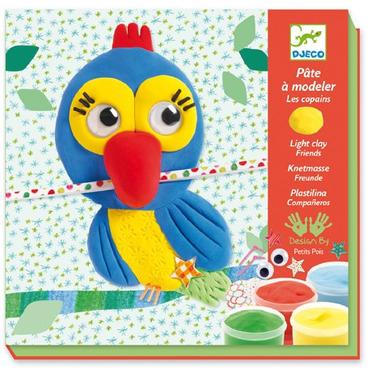 Djeco, zestaw artystyczny z plasteliną i ozdobami
