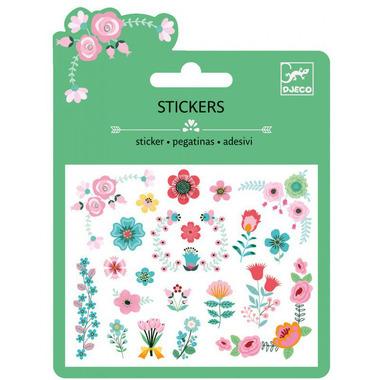 Djeco, naklejki brokatowe z kwiatowymi motywami