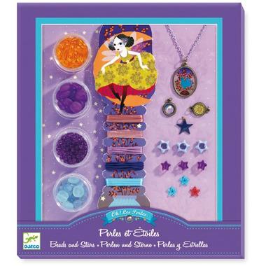 Djeco, zestaw do tworzenia biżuterii PERŁY I GWIAZDKI