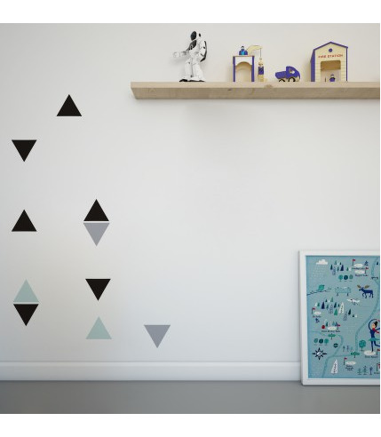 Naklejki ścienne trójkąty czarne