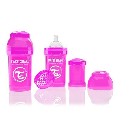 Butelka Twistshake anty-kolkowa 180ml różowa