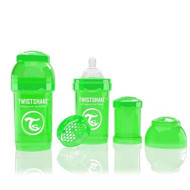 Butelka Twistshake anty-kolkowa 180ml zielona