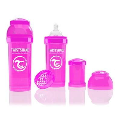 Butelka Twistshake anty-kolkowa 260ml różowa