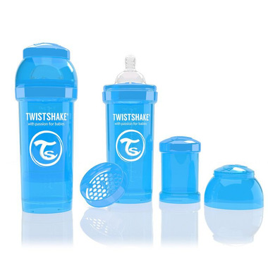 Butelka Twistshake anty-kolkowa 260ml niebieska