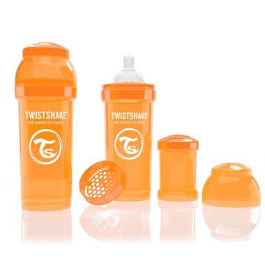 Butelka Twistshake anty-kolkowa 260ml pomarańczowa