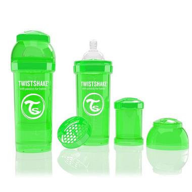 Butelka Twistshake anty-kolkowa 260ml zielona