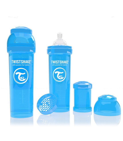 Butelka Twistshake anty-kolkowa 330ml niebieska