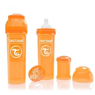 Butelka Twistshake anty-kolkowa 330ml pomarańczowa
