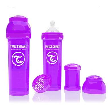 Butelka Twistshake anty-kolkowa 330ml fioletowa