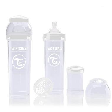Butelka Twistshake anty-kolkowa 330ml biała