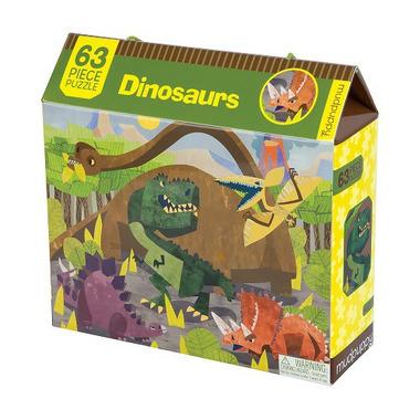 Puzzle Dinozaury - 63 elementy