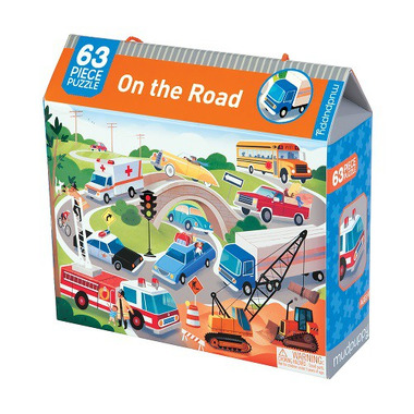 Mudpuppy, puzzle Na drodze - 63 elementy