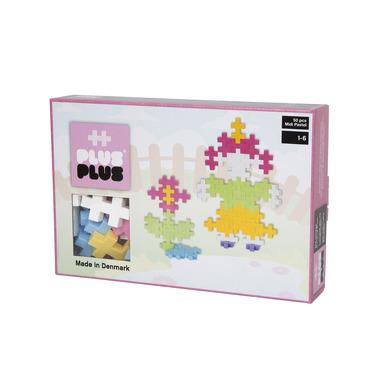 Plus-Plus, klocki konstrukcyjne Midi Pastel Ludzik i Kwiatek 50 szt.