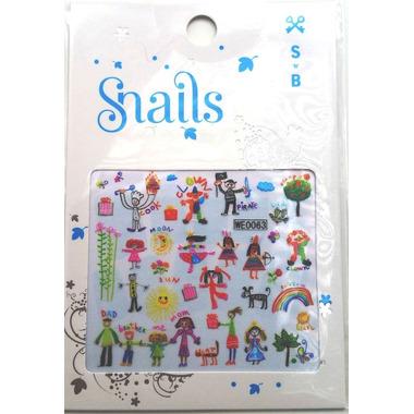 Naklejki na paznokcie Snails Baby Art