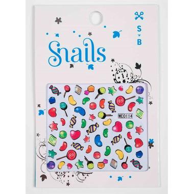 Naklejki na paznokcie Snails Candy Crush