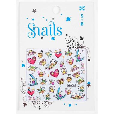 Naklejki na paznokcie Snails Story Telling