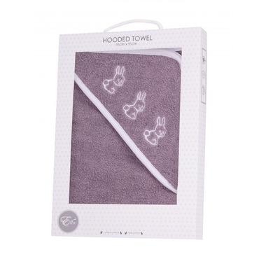 Ręcznik Kąpielowy Szary z Białą Lamówką i Haftem 95x95