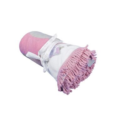 Ręcznik plażowy/ koc piknikowy/ mata podłogowa 150cm Różowe Serca 100% bawełna