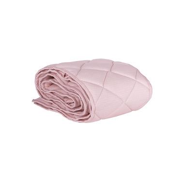 Ochraniacz pikowany na całe łóżeczko 70x140 różowy w szare kropki