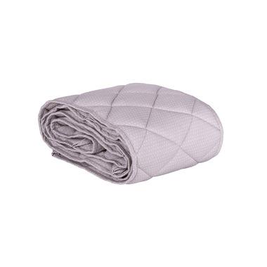 Ochraniacz pikowany na całe łóżeczko 70x140 szary w białe kropki