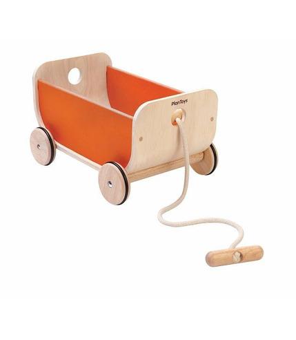 Wózek -wagon pomarańczowy, Plan Toys