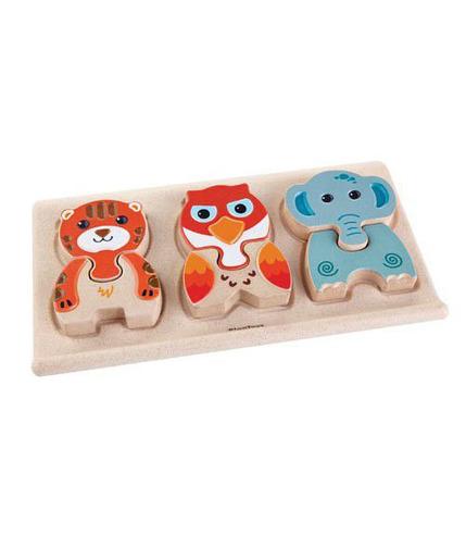 Drewniane puzzle zwierzątka, Plan Toys