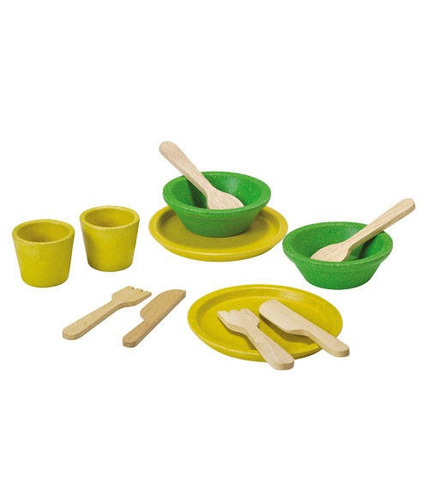 Serwis obiadowy - drewniany zestaw do zabawy, Plan Toys