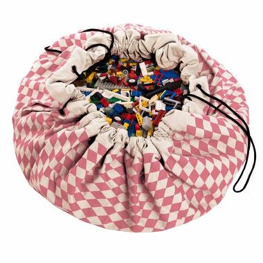 Worek na klocki i zabawki Różowe Romby