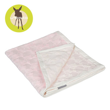 Lassig Ekologiczny Kocyk SeaCell Lela pastelowy różowy