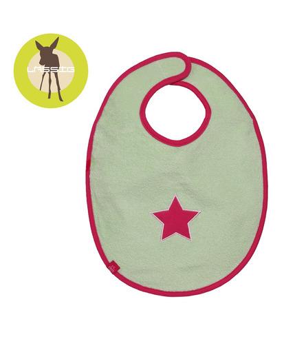 Lassig, Śliniak bawełniany wodoodporny 6-24m Starlight magenta