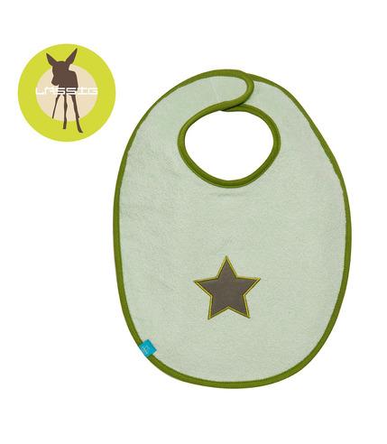 Lassig, Śliniak bawełniany wodoodporny 6-24m Starlight olive