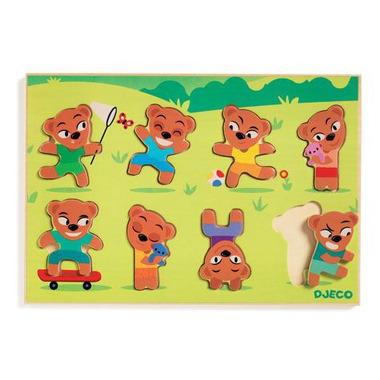 Djeco, drewniane puzzle - Dopasuj Misia
