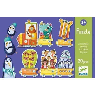 Djeco, puzzle Pociąg
