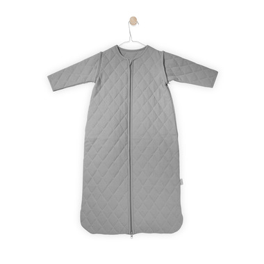 Jollein, całoroczny śpiworek z odpinanymi rękawami Szary 0-6 m