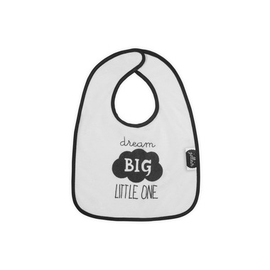 Jollein, biało-czarny śliniak Dream big little one