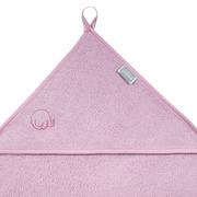 Jollein, mięciutki ręcznik  z kapturem 75x75cm Różowy