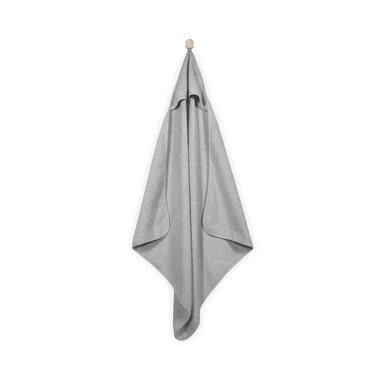 Jollein, mięciutki ręcznik  z kapturem 75x75cm Szary
