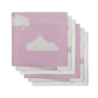Jollein, otulacz średni 70x70cm Różowe niebo - 6 sztuk