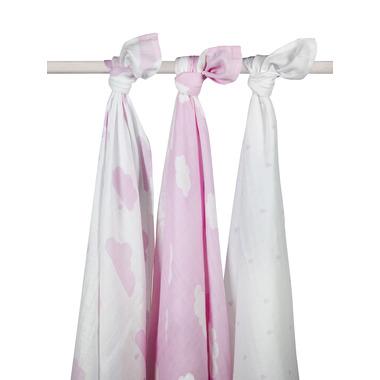 Jollein, otulacz duży 115x115cm Różowe niebo - 3 sztuki